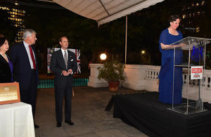 Speech by Ambassador Fiona Clouder on the occasion of the visit of HRH Prince Edward, Earl of Wessex.