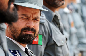 Afghan National Police graduation ceremony