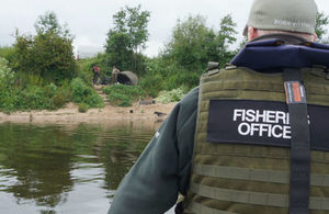 Environment Agency enforcement officers have been patrolling for illegal fishing