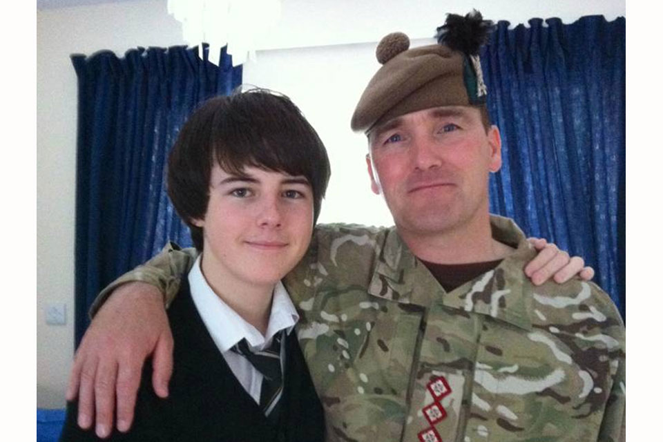 Captain Walter Barrie and son Callum (All rights reserved.)