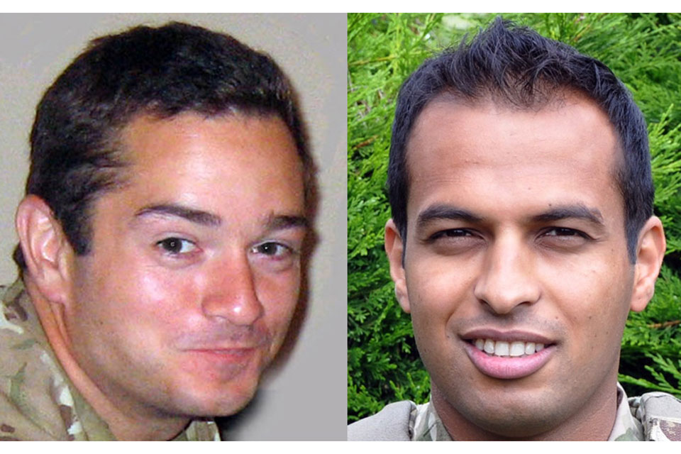 Lieutenant Edward Drummond-Baxter and Lance Corporal Siddhanta Kunwar (All rights reserved.)