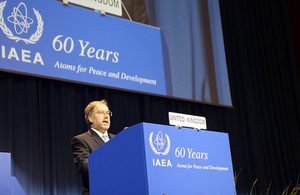 Robin Grimes delivering the UK Statement to the 60th IAEA General Conference