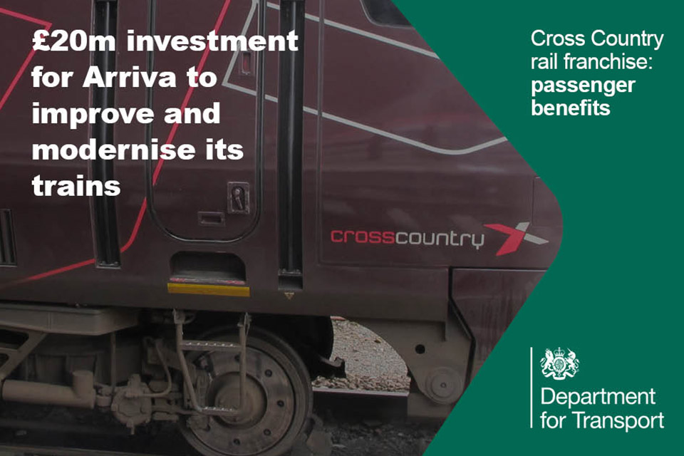 Cross Country Arriva to modernise trains.