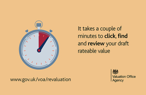 It takes a couple of minutes to click, find and review your draft rateable value.