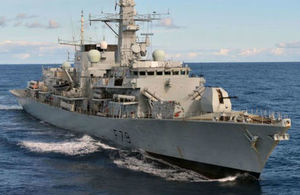The British Royal Navy frigate HMS Portland