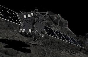 Artist's impression of Rosetta's impact