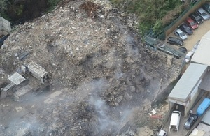 A view of the Marshgate waste site from above