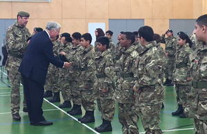 Defence Secretary Michael Fallon has today announced the next wave of 25 school cadet units