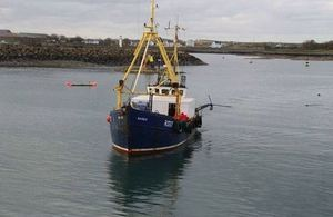 Fishing vessel Karen returning to port after collision