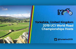 Yorkshire, UK, hosts of 2019 UCIWC World Road Championships