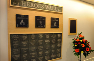 The Heroes Wall at Melior Community College