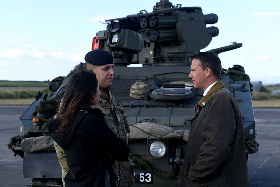 Defence Minister Mark Lancaster was on hand to see what was the largest UK ground-based air defence exercise since 2003.