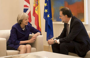 Prime Minister Theresa May meeting with Prime Minister Rajoy