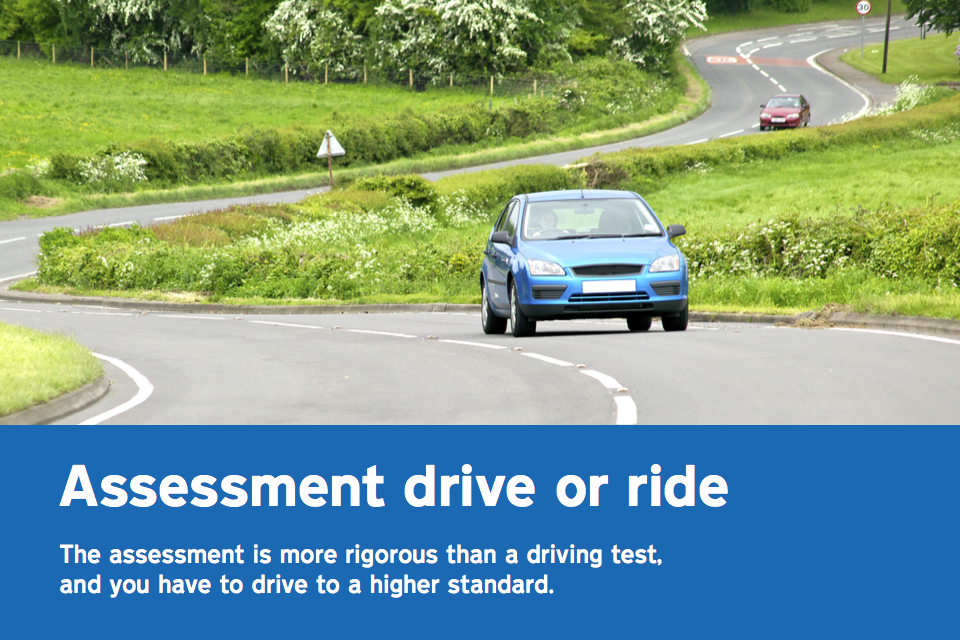 Taking the driving ability assessment