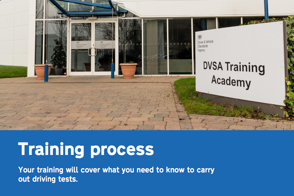 Taking the driving examiner training course