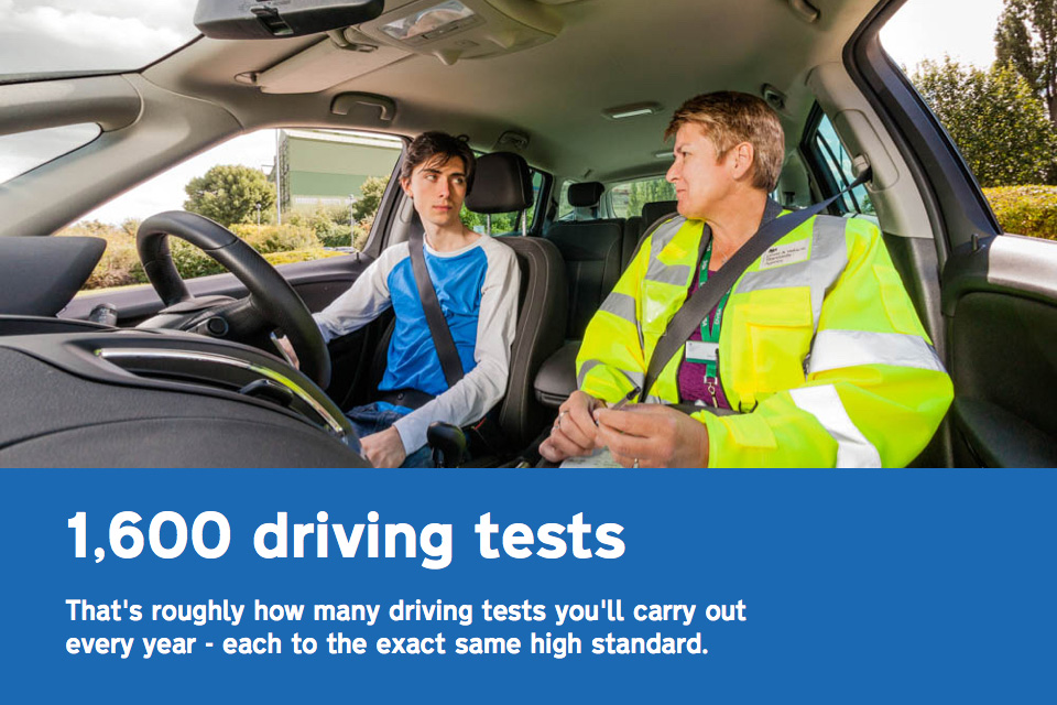 Full-time driving examiners carry out around 1,600 driving tests a year