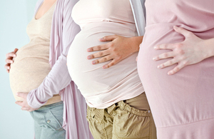 Picture of 3 pregnant women