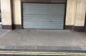 Empty spot on pavement
