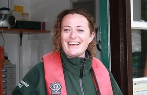 A photo of Katie Marshall, who will be the new lock keeper at Romney Lock, near Windsor in Berkshire.