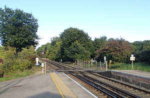 Image showing Alice Holt level crossing