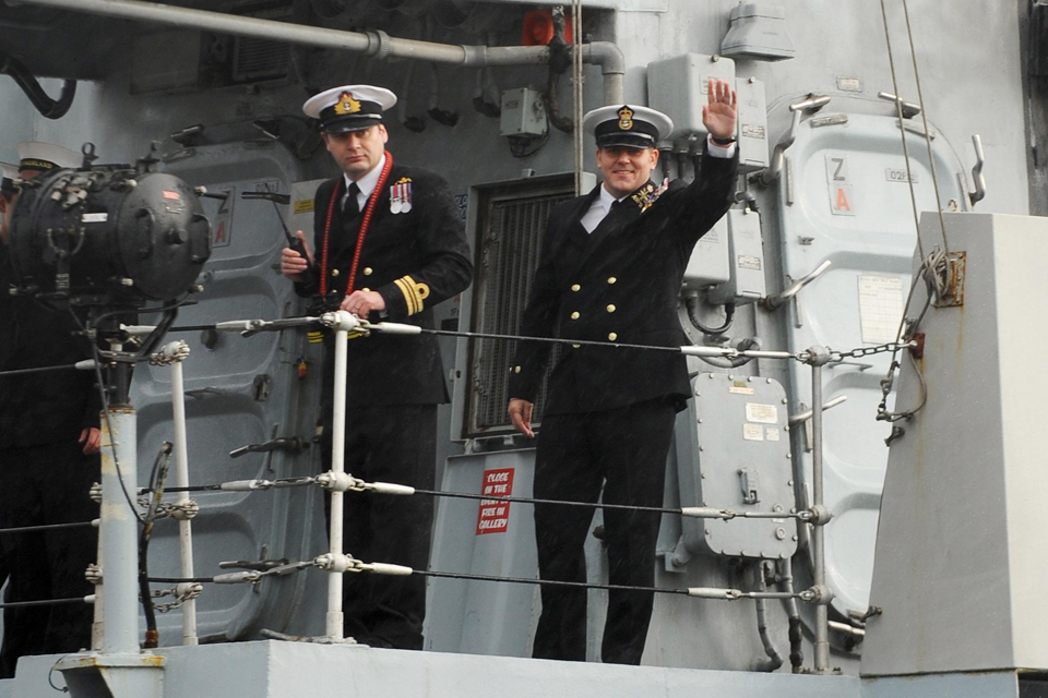 Royal Navy personnel on board HMS Sutherland