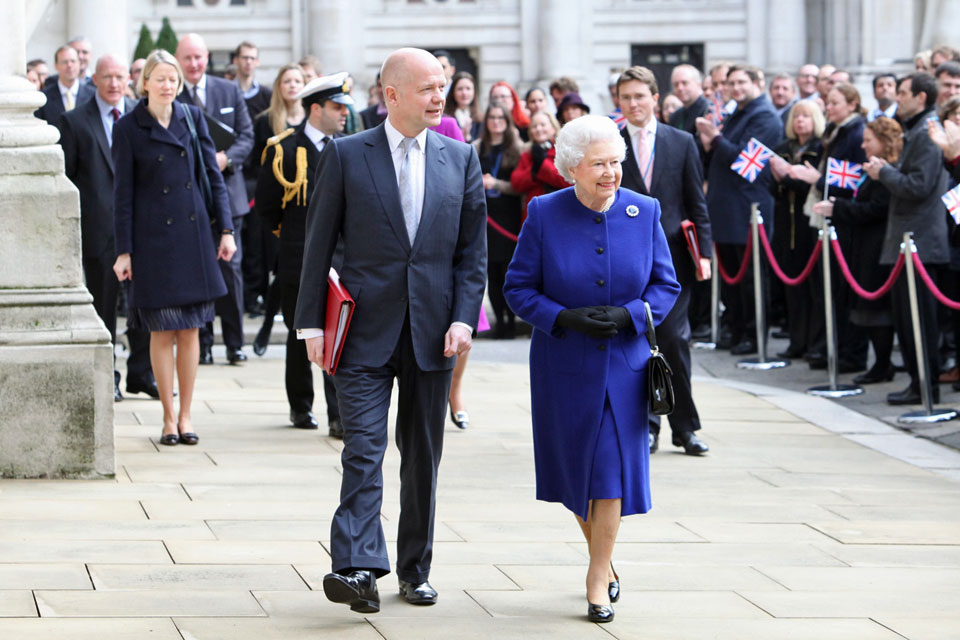 Her Majesty Queen Elizabeth II visits the Foreign Office