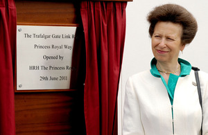 Her Royal Highness The Princess Royal officially opens the new link road