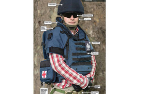 Defence civilian wearing Personal Protective Equipment