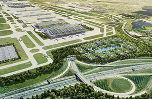 Proposed new north-west runway at Heathrow Airport.