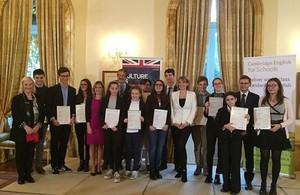 Winners of the Kangourou 2016 English language competition