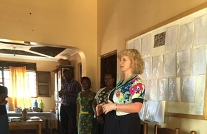 Alison Blackburne at the Bulamu Girls Transit Centre in Kampala