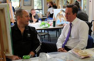 The Prime Minister visiting Tyrwhitt House