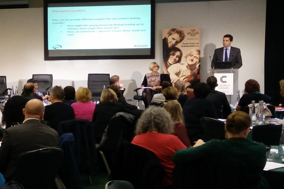 Edward Timpson MP giving the keynote speech at The Prince's Trust National Care Leavers' Week Conference 2016
