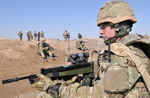 Members of the UK armed forces in Afghanistan
