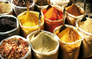 Spices at a market