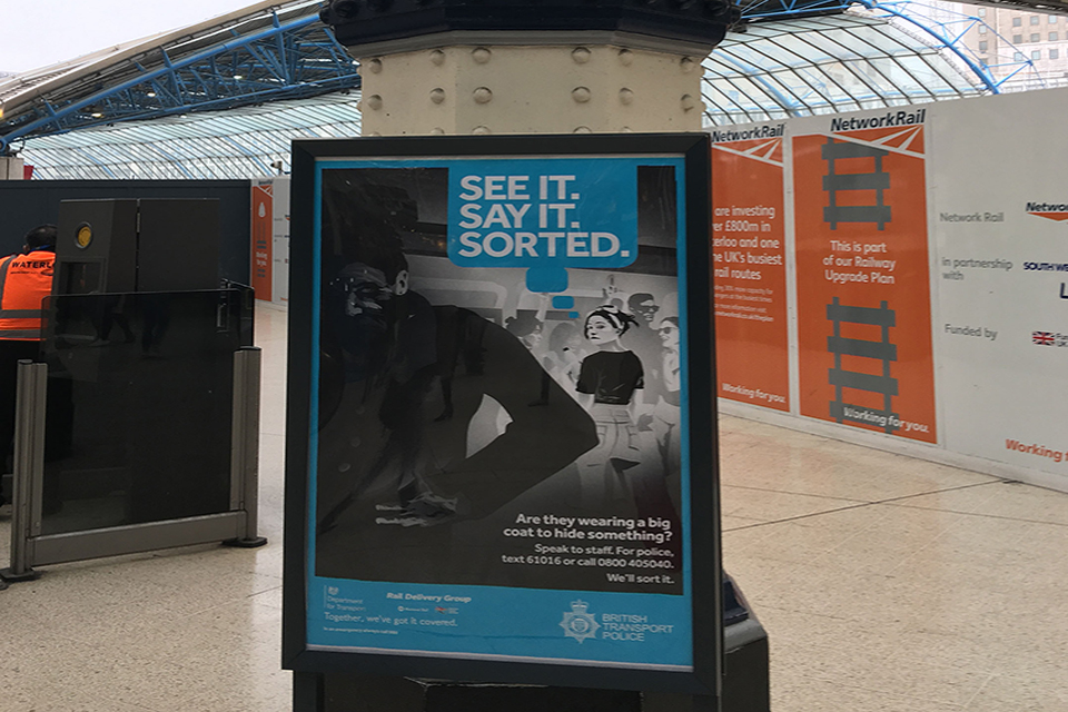 See it. Say it. Sorted safety campaign.