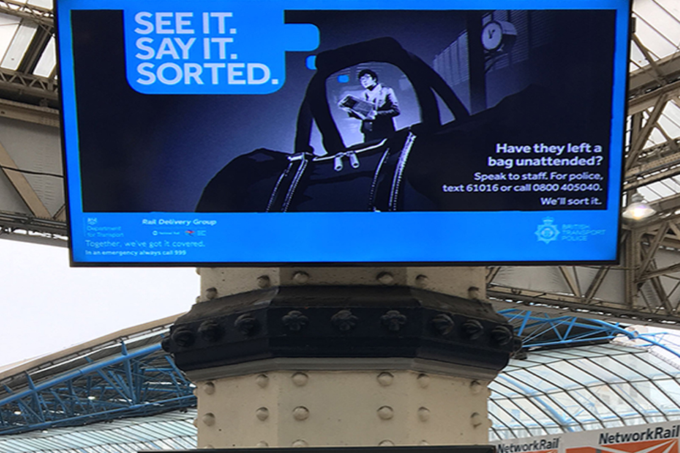 See it. Say it. Sorted safety campaign launch.
