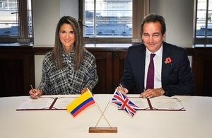 Nick Hurd and Yaneth Giha, Director of the Colombian national research agency Colciencias