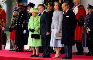 President Juan Manuel Santos, Colombia and Royal Family