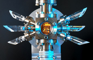 An ion optical clock (credi: NPL)