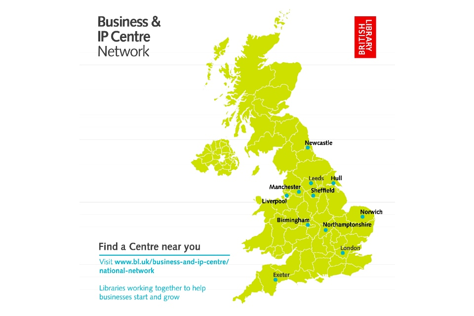 British Library Business and IP Centre network map