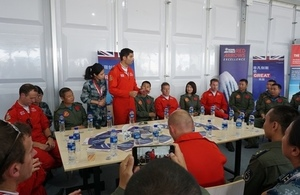RAF Red Arrows meet Chinese Air Demonstration Team
