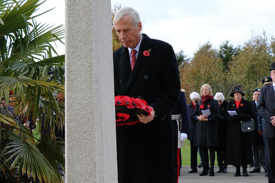 Defence Minister Earl Howe, veterans and current service personnel attended a commemorative service for the 60th anniversary of the Suez Canal Zone ceasefire at the National Memorial Arboretum. Crown copyright.