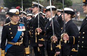 Princess Royal inspects the cadets [Picture: Copyright Craig Keating]