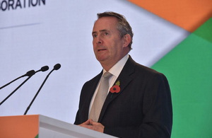 UK Secretary of State for International Trade, Liam Fox