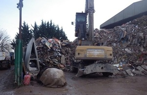 A picture showing the pile of waste at site.