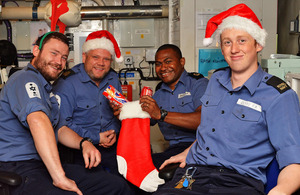 Christmas stockings for HMS Monmouth sailors