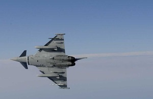 Typhoon aircraft [Picture: Senior Aircraftman Ash Reynolds, Crown Copyright/MOD 2012]