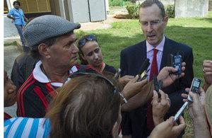 Her Majesty's Ambassador in Cuba Antony Stokes