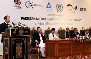 British High Commissioner to Pakistan, Thomas Drew CMG at the PMIC's event.